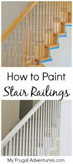 How To Paint Stairwells - My Frugal Adventures Best 25 Spindles For Stairs Ideas On Pinterest Iron Stair Remodelaholic Diy Stair Banister Makeover Using Gel Stain 9 Best Stairs Images Makeover Redo And How To Paint An Oak Newel Like Sanding Repating Balusters Httpwwwkelseyquan Chic A Shoestring Decorating Railings Ideas Collection My Humongous Diy Fail Your Renovations Refishing Staing Staircase Traditional Stop Chamfered Style Pine 1 Howtos Two Points Honesty Refishing Oak Railings