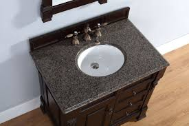 Single Sink Bathroom Vanity With Granite Top by Abstron 36 Inch Mahogany Finish Single Sink Traditional Bathroom
