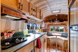 Tiny Kitchen At Airstream Flying Cloud Travel Trailer
