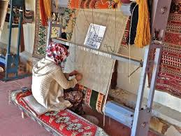 Turkish Carpets Woman Makes Carpet Design Knots By
