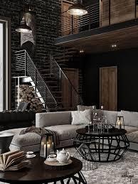 trend zum kennenlernen industrielles wohnzimmer rustikal