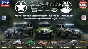 Specialty Jeeps - Willys & Jeep Restorations, Service And Parts