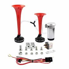 AIRZIR 12V 135db Dual Trumpet Air Horn Kit With Two Trumpets And ... Voluker 4 Trumpet Train Air Horn Kit150db Loud Compressor Amazoncom Iglobalbuy Super 12v Dual 150db Truck Mega Single Kit W Dc 12v Emergency Fire Ftkit Horns Of Texas Mirkoo Twin Tone Chrome Plated Air Horn Kit Diesel Pinterest Trucks Chevy Car Boat 117 Wolo Mfg Corp Air Horns Horn Accsories Comprresors Pcwizecom Truhacks Triple Boss Suspension Shop Kits Model Hk2 Kleinn Mpc M1 Review Best Unbiased Reviews
