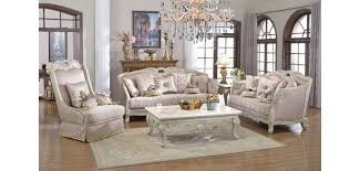 621 Provincial Living Room Set in Antique White