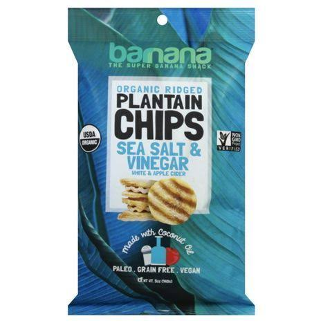 Barnana Organic Plantain Chips - Sea Salt & Vinegar, 5oz