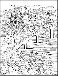 Dover Creative Haven Magical Landscapes Coloring Page 3
