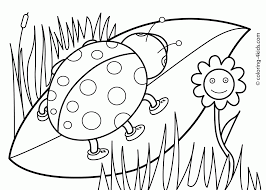 Preschool Coloring Pages Spring Book Toddlers