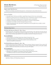 Waiter Resume Template Waiter Resume Service Resume Restaurant
