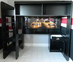 lit mezzanine noir avec bureau lit mezzanine bureau ado lit mezzanine enfant x en bois