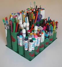 Art Caddy From Cardboard Toilet Paper Rolls 5 Steps