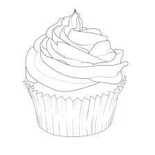 preschool coloring pages cupcakes free happy birthday cupcake