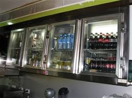Overhead Drinks Display Fridge Wall Mou