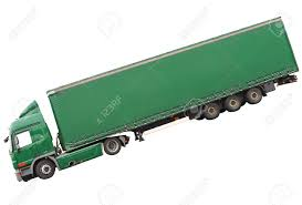 Big Green Truck. Isolated Over White Background. Stock Photo ...