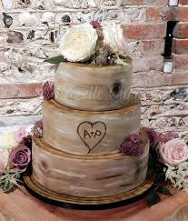 Rustic Wedding Cake Tree Trunk Frizelle Cakes