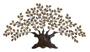 Tree Wall Decor With Pictures by Tree Of Life Metal Wall Art Large Decoration With Branch And Leaves
