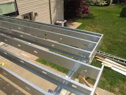 Distance Between Floor Joists On A Deck by Goodbye Wood Deck Framing U2026 Hello Steel Deck Framing Deckadvisor