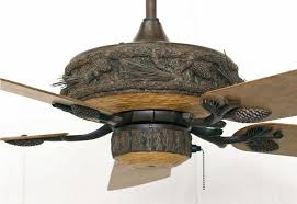 Furniture The Most Log Cabin 52 Ceiling Fan Weathered Patina Fans Intended For Rustic