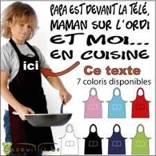 cuisine maman tablier enfant humoristique