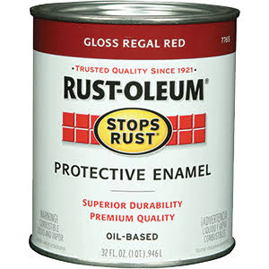 Rustoleum Protective Enamel Paint - Gloss Regal Red, 32oz