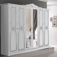 schlafzimmer set in weiss 180x200 cm mit schrank 4 türig ohne kommode und spiegel ohne lattenrost