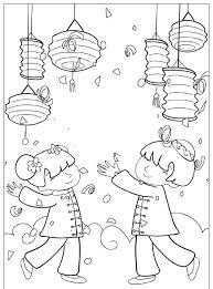 Moon Festival Coloring Pages Mid Autumn Festival Autu and Chinese New Y