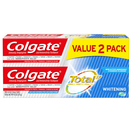 Colgate Total Whitening Gel Toothpaste Pack - 2pk, 4.8oz