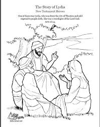 Acts Pauls Second Journey The Story Of Lydia Coloring Page