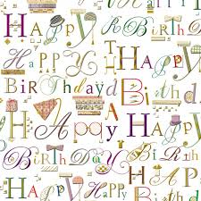 Embossed Wrapping Paper Happy Birthday Gift Wrap