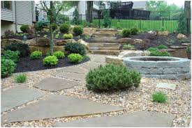 Backyards : Amazing Interesting Stylish Backyard Landscape Gallery ... Outdoor Living Cute Rock Garden Design Idea Creative Best 20 River Landscaping Ideas On Pinterest With Lava Fleagorcom Natural Landscape On A Sloped And Wooded Backyard Backyards Small Under Front Window Yard Plans For Of 25 Rock Landscaping Ideas Diy Using Stones Interior 41 Stunning Pictures Startling Gardens