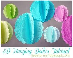 DIY 3D Doilies Look Great At Any Party