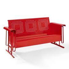 Veranda Metal Patio Loveseat Glider by Crosley Steel Patio U0026 Garden Chairs Ebay