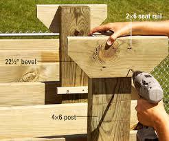 Wood Bench Designs Decks by Wishing Work
