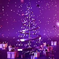 Purple Christmas Trees Happy Holidays