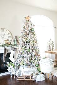 Metallic Winter Wonderland Christmas Tree Create A Flocked With Green And