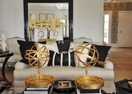 dekoration design gold schwarz und weiß wohnzimmer