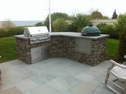 Tranquil Lowes Small Outdoor Kitchen With Big Green Egg