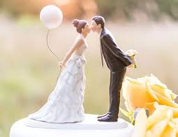 Romantic Bride Groom Cake Toppers