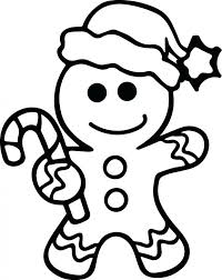 Blank Gingerbread Man Coloring Sheet Free Printable Sheets Christmas Page Brilliant Ideas Boy Pages