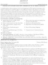 Chemical Engineer Resume Sample As Well Medical Device Engineering To