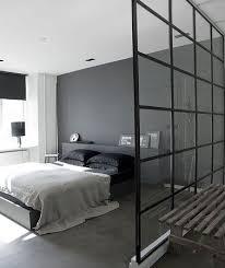 deco chambre parentale moderne couleur gris anthracite dans une chambre parentale