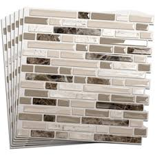 Smart Tiles Mosaik Multi by Smart Tiles 10 In X 10 In Beige Mosaic Vinyl Tile I Almost Want