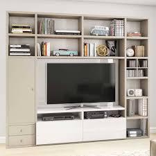 tv wohnzimmerwand in beige rongon