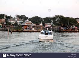 100 Fire Island Fair Harbor Water Taxi Approaching Dock NY
