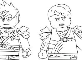 Coloring Pages Lego Ninjago Free Graphic Awesome Kai Zx