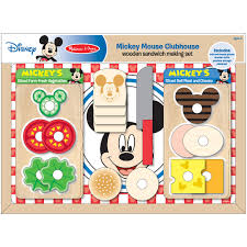 Mickey Mouse Clubhouse Bedroom Set by Melissa U0026 Doug Mickey Mouse Clubhouse Wooden Sandwich Making Set