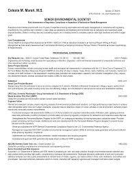 Environmental Science Resume Sample