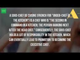 chef de cuisine definition what is the definition of a sous chef