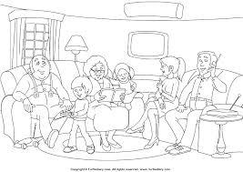 Family Coloring Sheet