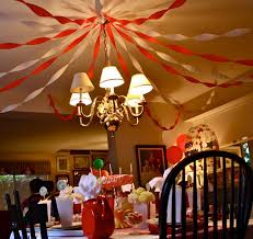 The Big Top Was Dining Room Where Centerpiece Aforementioned Carousel Cake We Hung Streamers To Recreate Tent Ceiling