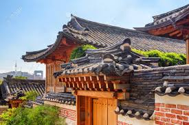 100 South Korean Houses Black Tile Roofs Of Traditional Houses At Bukchon Hanok